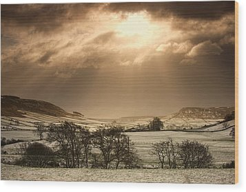 North Yorkshire, England Sun Shining Wood Print by John Short