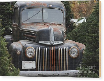 Nostalgic Rusty Old Ford Truck . 7d10280 Wood Print by Wingsdomain Art and Photography
