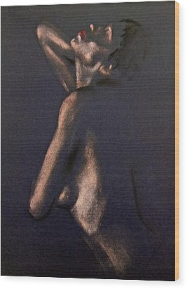 Nude - Passion Wood Print by Dorina  Costras