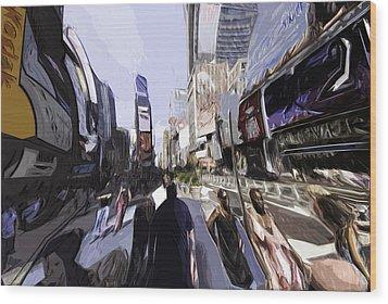 Nyc Impression Wood Print by Robert Ponzoni