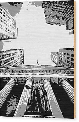 Nyc Looking Up Bw3 Wood Print by Scott Kelley