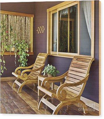 Oasis Of Calm Wood Print by Heiko Koehrer-Wagner