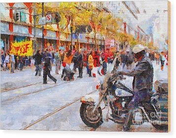 Occupy Sf Market Street . 7d9738 Wood Print by Wingsdomain Art and Photography