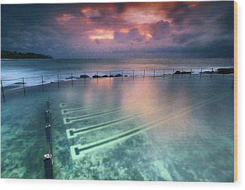 Ocean Baths Wood Print by Yury Prokopenko