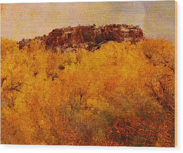 October  Wood Print by Ann Powell