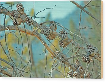 October Pine Wood Print by Bonnie Bruno