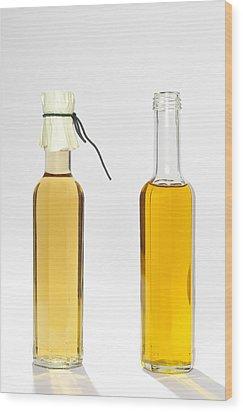 Oil And Vinegar Bottles Wood Print by Matthias Hauser