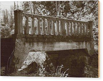 Old Bridge Wood Print by Paula Brown