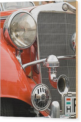 Old Car Detail Wood Print by Odon Czintos