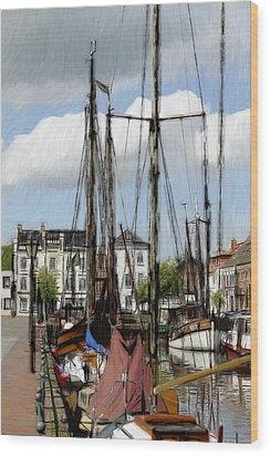 Old Harbor Wood Print by Steve K