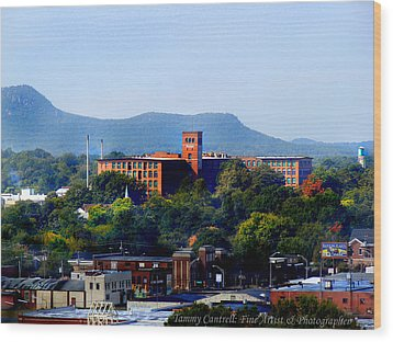 Old Loray Firestone Mill  Wood Print by Tammy Cantrell