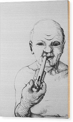 Old Man Wood Print by Louis Gleason