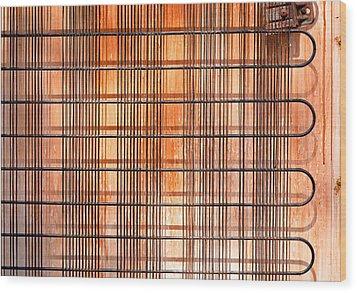 Old  Refridgerator Wood Print by Tom Gowanlock