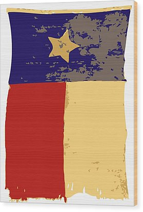 Old Texas Flag Color 6 Wood Print by Scott Kelley