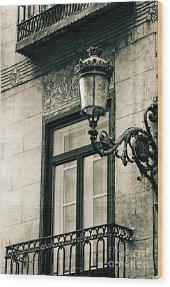 Old Window Lamp Wood Print by Syed Aqueel