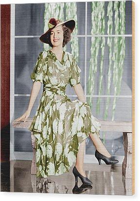 Olivia De Havilland, Ca. 1937 Wood Print by Everett