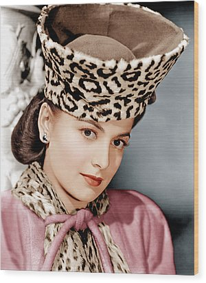 Olivia De Havilland, Ca. 1943 Wood Print by Everett