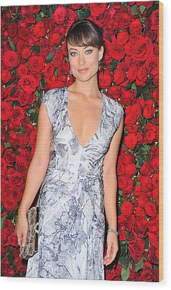 Olivia Wilde Wearing A Narciso Wood Print by Everett