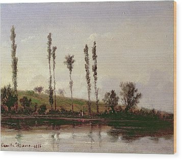 On The Outskirts Of Paris Wood Print by Camille Pissarro