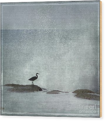 On The Rocks Wood Print by Linde Townsend