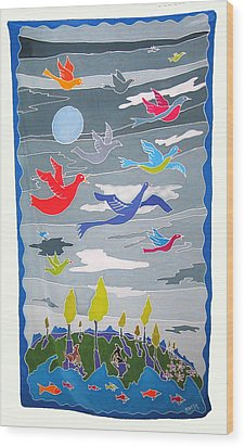 Once In A Blue Moon Wood Print by Rollin Kocsis
