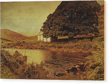 Once Upon A Time. Somewhere In Wicklow Mountains. Ireland Wood Print by Jenny Rainbow