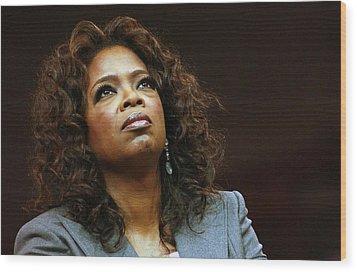 Oprah Winfrey In Attendance For Barack Wood Print by Everett