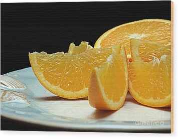 Orange Slices Wood Print by Andee Design