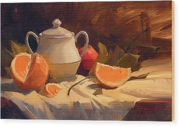 Oranges Wood Print by Richard Robinson