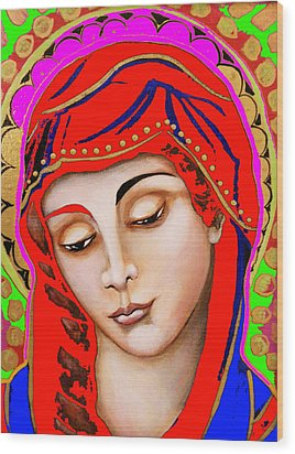Our Lady Of Sorrows Wood Print by Christina Miller