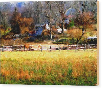 Our View Wood Print by Marilyn Sholin