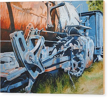 Out Of Gear Wood Print by Chris Steinken