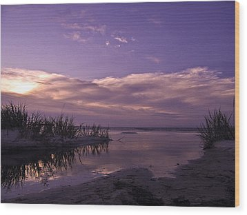 Out To Sea Wood Print by Brian Wright
