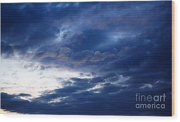 Overcast Sky In The Morning Wood Print by Gabriela Insuratelu