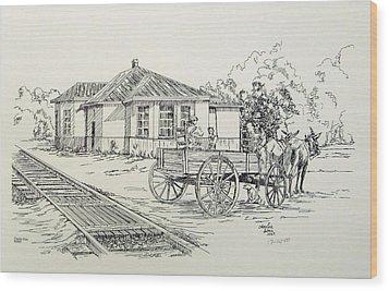 Ozark Depot Wood Print by Charles Sims