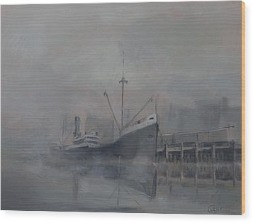 Pacific Trader Wood Print by Christopher Jenkins