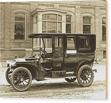 Packard Motor Car Company Automobile 1910 Wood Print by Padre Art