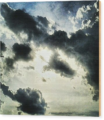 #painted #sky #instadroid #andrography Wood Print by Kel Hill