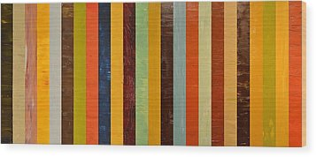 Panel Abstract Lll  Wood Print by Michelle Calkins