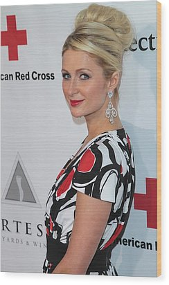 Paris Hilton At Arrivals For American Wood Print by Everett