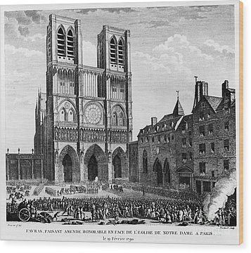 Paris: Notre Dame, 1790 Wood Print by Granger