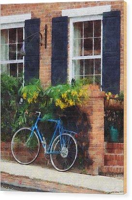 Parked Bicycle Wood Print by Susan Savad