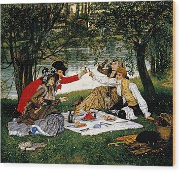 Partie Carree Wood Print by James Jacques Joseph Tissot