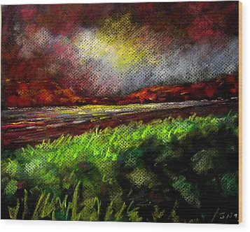 Pastel Sunset Wood Print by John  Nolan
