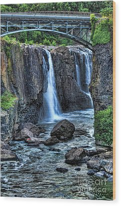 Paterson Great Falls Wood Print by Paul Ward