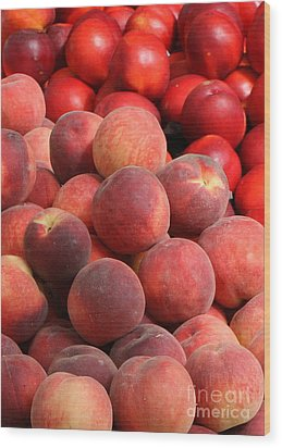Peaches And Nectarines Wood Print by Carol Groenen