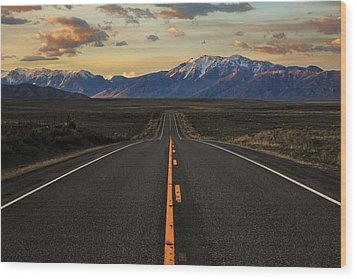 Peaks To Craters Highway Wood Print by Benjamin Yeager