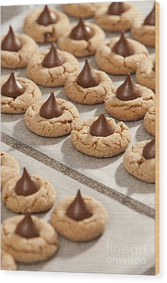 Peanut Blossom Cookies Wood Print by Will & Deni McIntyre