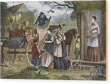 Peddlers Wagon, 1868 Wood Print by Granger