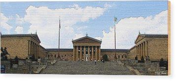 Philadelphia Museum Of The Arts Wood Print by Rick Thiemke